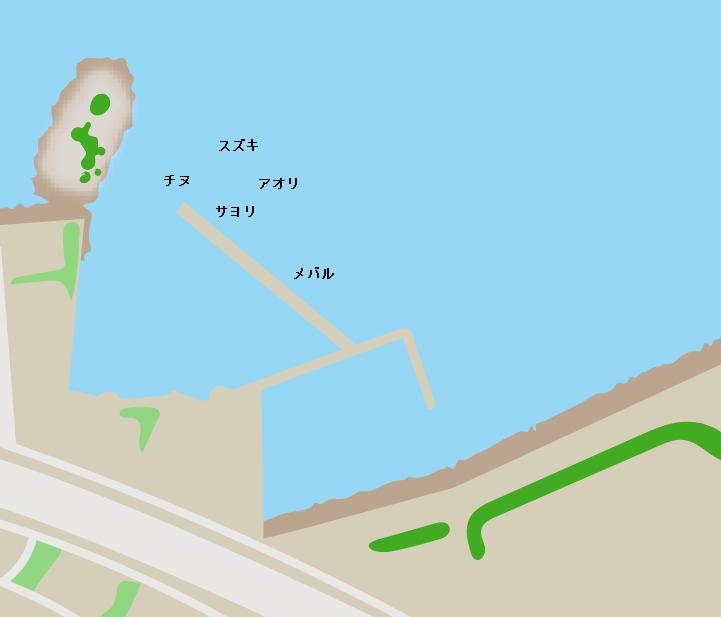 日の出港ポイント図