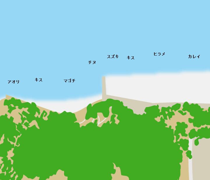 渋川海岸ポイント図