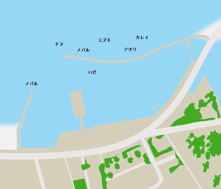 渋川港ポイント図
