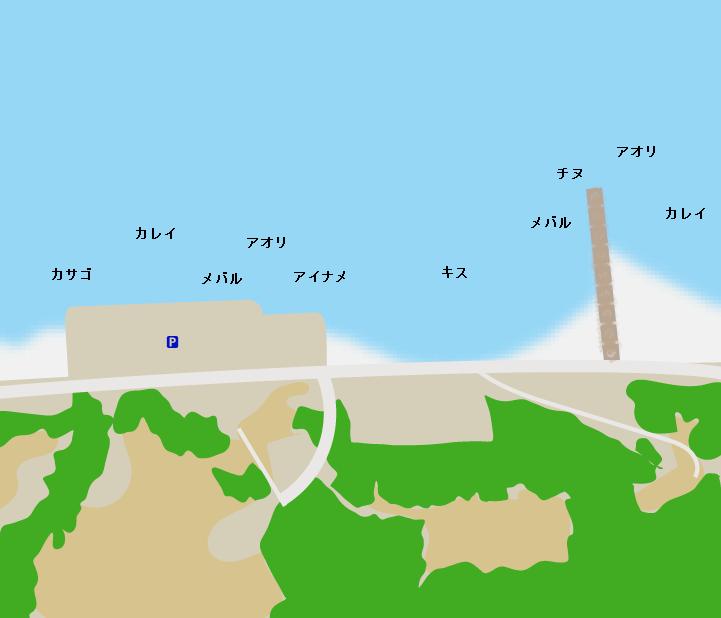 王子ヶ岳登山口周辺ポイント図