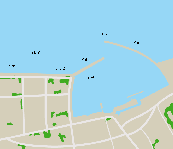 田の口港ポイント図