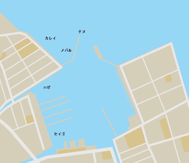 琴浦港ポイント図
