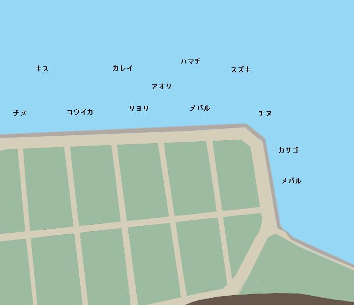 阿品護岸ポイント図