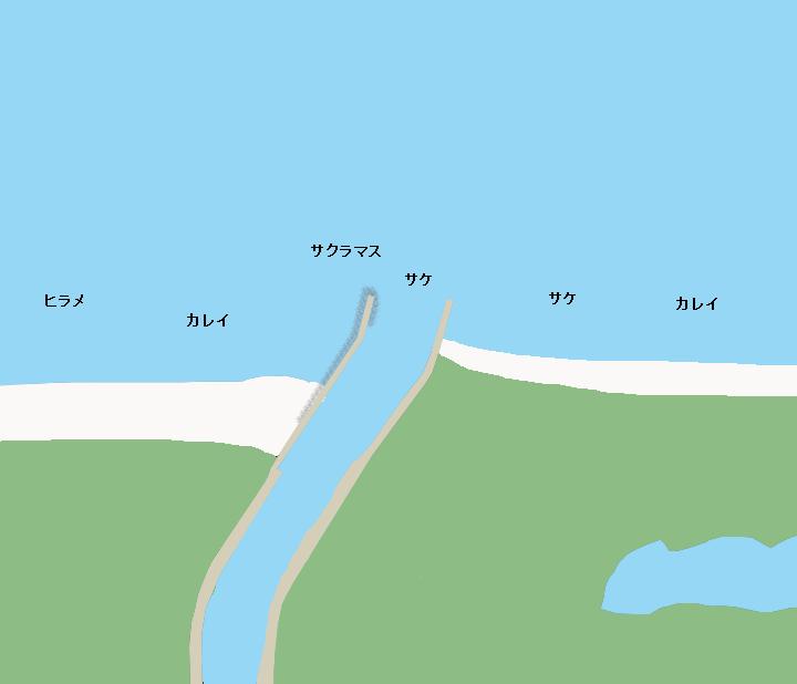 国縫川河口ポイント図