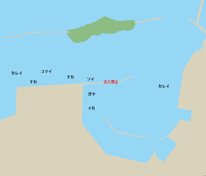 根室港ポイント図