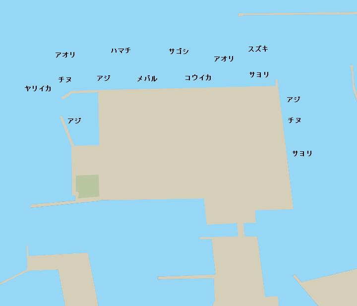 仙崎人工島ポイント図