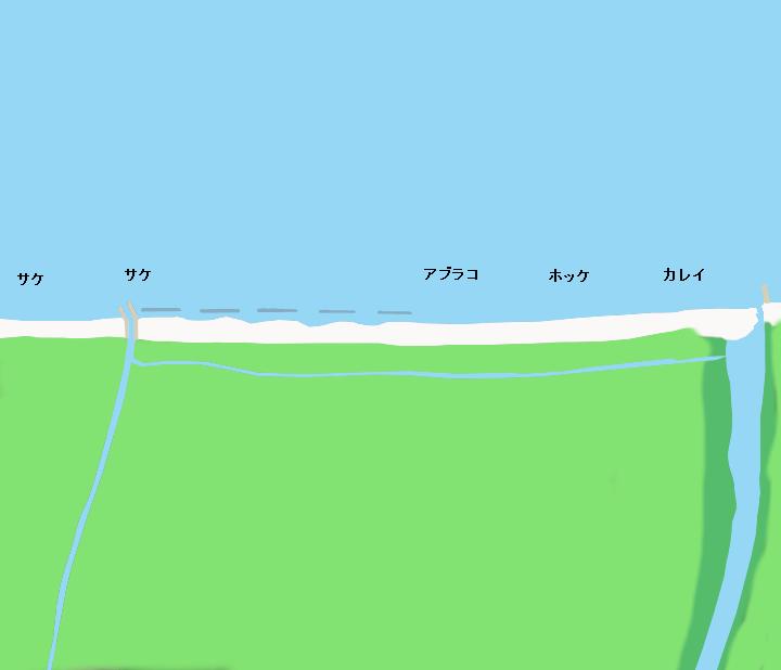 知内海岸ポイント図