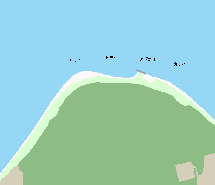 渡島砂原砂崎ポイント図