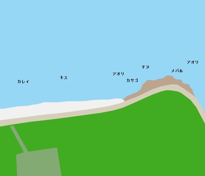 倉橋島唐船浜ポイント図