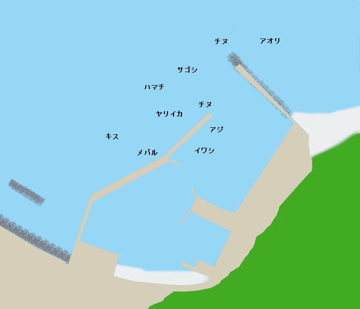 湯玉漁港ポイント図
