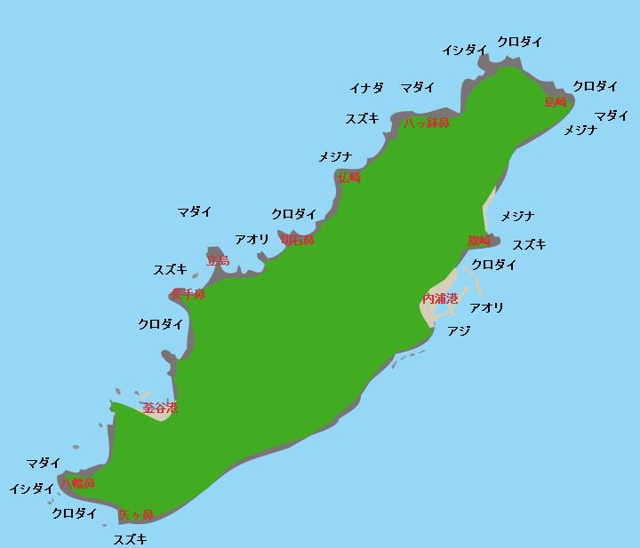 粟島ポイント図
