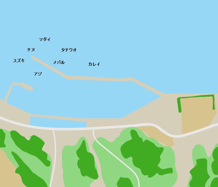 上怒和漁港ポイント図
