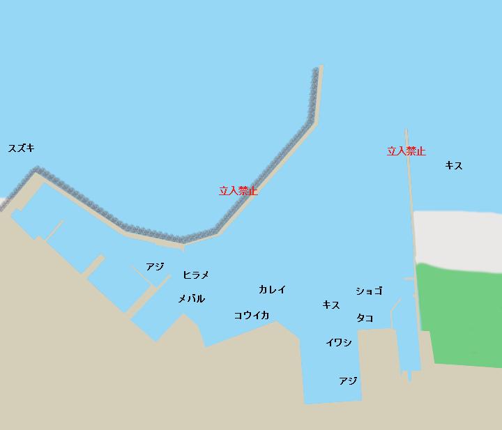 大洗港ポイント図